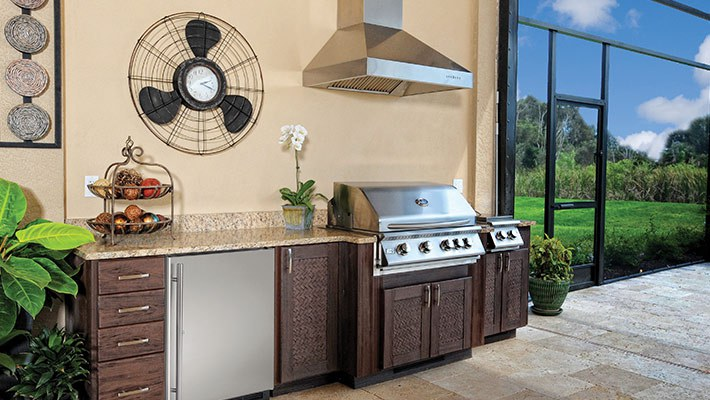 outside kitchen cabinets outdoor kitchens tropica designs 24175